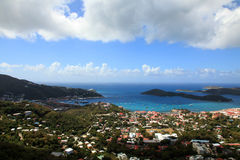 Skyline view of St Thomas Royalty Free Stock Photography