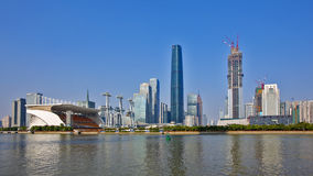 The skyline view of Zhujiang new town Stock Photo
