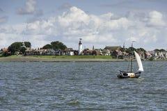 Skyline of the village Urk in Holland Stock Photo