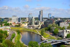 Skyline of Vilnius, Lithuania Royalty Free Stock Photography
