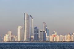 Skyline von Abu Dhabi Stockfoto