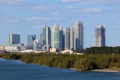 Skyline von Abu Dhabi Al Reem Island Lizenzfreies Stockfoto