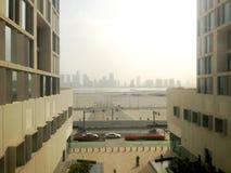 Skyline von Abu Dhabi, Vereinigte Arabische Emirate Stockfotografie