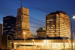 Skyline von Akron, Ohio Stockbild