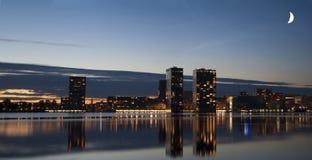 Skyline von Almere Stockfotografie