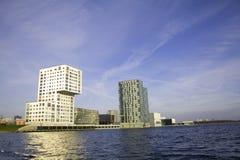 Skyline von Almere Stockfotos