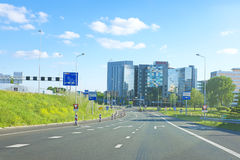 Skyline von Amsterdam die Niederlande Lizenzfreie Stockbilder