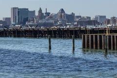 Skyline von Baltimore, Maryland Stockfotografie