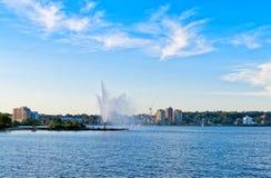 Skyline von Barrie, Ontario Lizenzfreies Stockbild