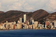 Skyline von Benidorm, Spanien Lizenzfreie Stockfotos