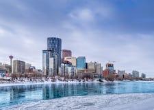 Skyline von Calgary Stockfotografie