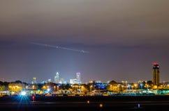 Skyline von Charlotte-Ansicht über Charlotte Lizenzfreie Stockfotografie