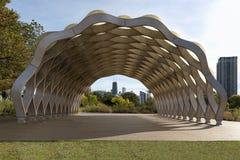 Skyline von Chicago im Stadtzentrum gelegen Lizenzfreies Stockbild
