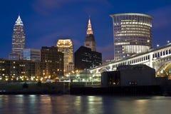Skyline von Cleveland lizenzfreies stockfoto