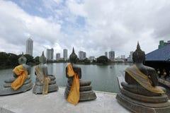 Skyline von Colombo in Sri Lanka lizenzfreie stockfotografie