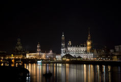 Skyline von Dresden Stockfotografie