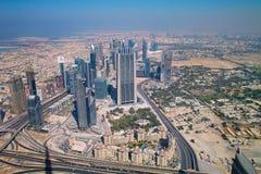 Skyline von Dubai Stockfoto