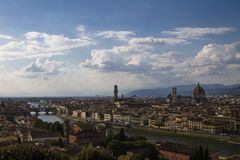 Skyline von Florenz Lizenzfreies Stockbild
