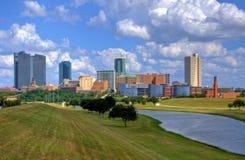 Skyline von Fort Worth Texas stockfotos