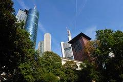 Skyline von Frankfurt stockbild
