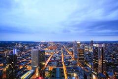 Skyline von Frankfurt, Deutschland Stockbild