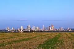 Skyline von Frankfurt-am-Main Stockfotos