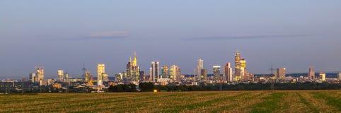Skyline von Frankfurt-am-Main Stockfotografie
