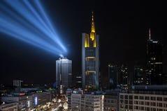 Skyline von Frankfurt am Main Deutschland Lizenzfreies Stockfoto