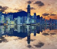 Hong Kong-Skyline lizenzfreie stockfotos