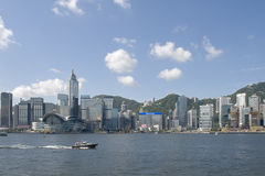 Skyline von Hong- Konginsel Stockfotos