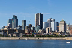 Skyline von im Stadtzentrum gelegenem Montreal, Kanada Lizenzfreies Stockbild