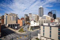 Skyline von Indianapolis Indiana lizenzfreies stockfoto