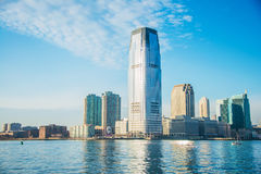 Skyline von Jersey City Lizenzfreie Stockfotografie
