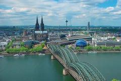 Skyline von Köln mit Kathedrale, Deutschland, Europa Stockfotos