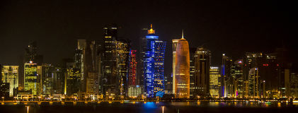 Skyline von Katar Lizenzfreie Stockfotografie