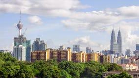 Skyline von Kuala Lumpur, Malaysia wirklich Asien Lizenzfreie Stockbilder