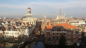 Skyline von Leiden in den Niederlanden Lizenzfreies Stockfoto