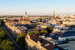 Skyline von Leipzig Lizenzfreie Stockfotos