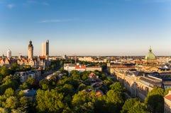 Skyline von Leipzig Stockbild