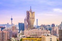 Skyline von Macau, China Lizenzfreie Stockfotografie