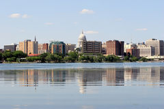 Skyline von Madison Wisconsin Stockbild