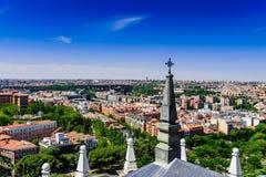 Skyline von Madrid Lizenzfreies Stockfoto