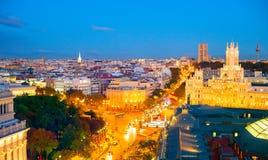 Skyline von Madrid, Spanien stockfotos