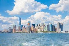 Skyline von Manhattan New York City lizenzfreie stockfotos