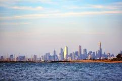 Skyline von Melbourne CBD Stockfotografie