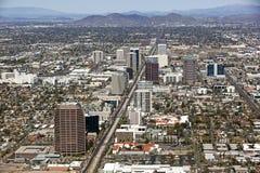 Skyline von Midtown Phoenix stockbilder