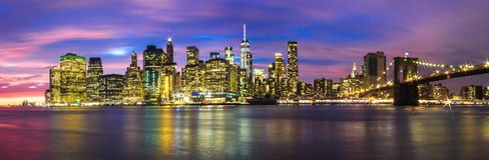 Skyline von New York City Lizenzfreie Stockfotos