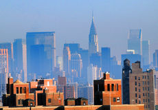 Skyline von New York City stockfotos