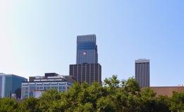 Skyline von Omaha Stockbild