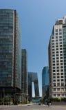 Skyline von Peking CBD stockfotos